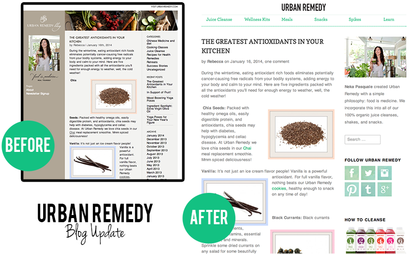 Urban Remedy Blog Before and After