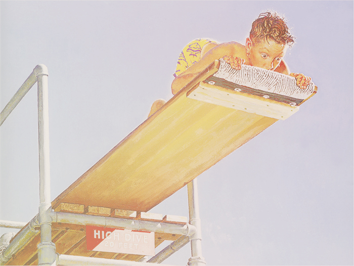 Norman Rockwell high dive